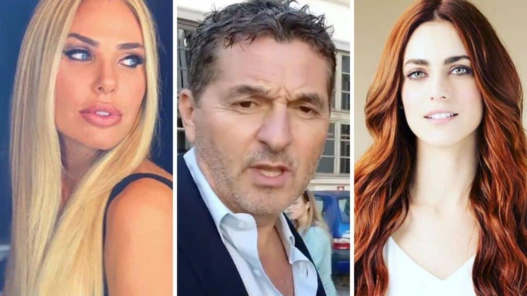Ilary Blasi, Teo Mammucari, Miriam Leone. Fonte: Instagram