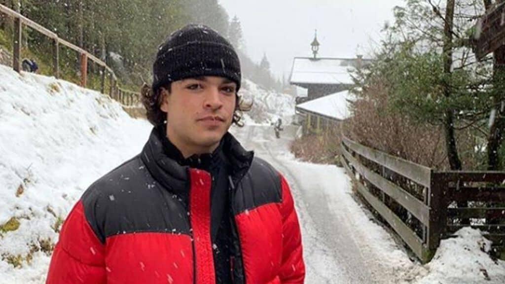 Leo Gassmann sotto la neve