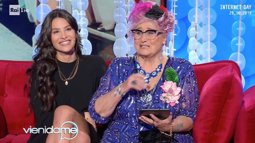 Ludovica Valli e nonna Rema a 'Vieni da me'
