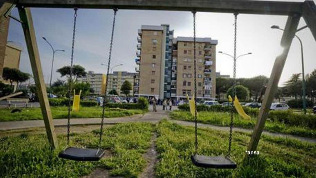 Parco Verde di Caivano, dove sono morti Antonio Giglio e Fortuna Loffredo. Fonte: Ansa