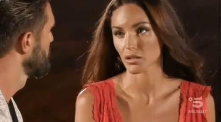 Alex Belli e Delia Duran al falò di confronto