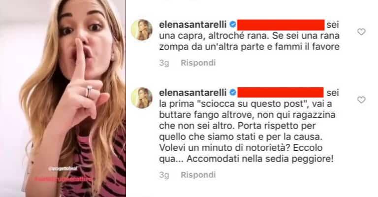 Commenti Instagram di Elena Santarelli