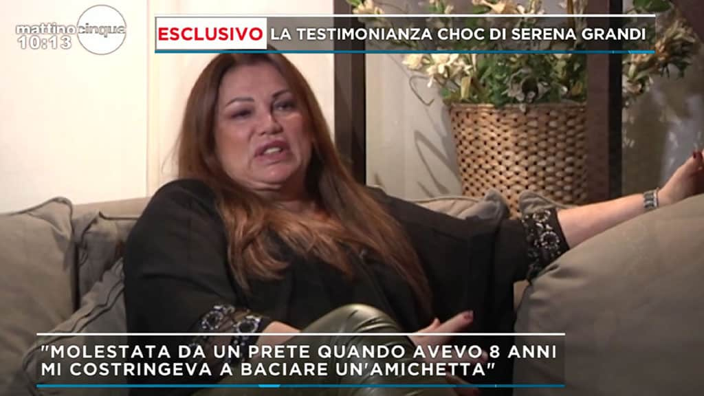 Serena Grandi a 'Mattino Cinque'