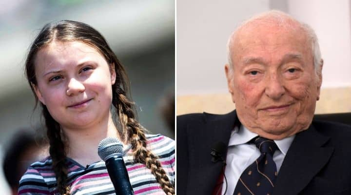 Greta Thunberg e Piero Angela