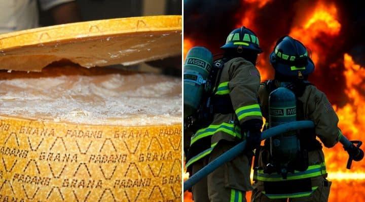 Grana Padano e vigili del fuoco