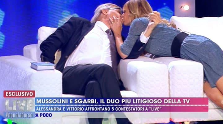 Vittorio Sgarbi e Alessandra Mussolini
