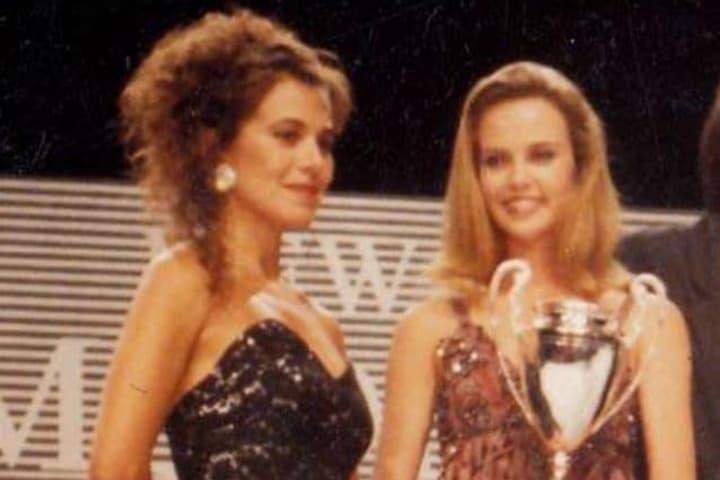 Barbara D'Urso e Charlize Theron