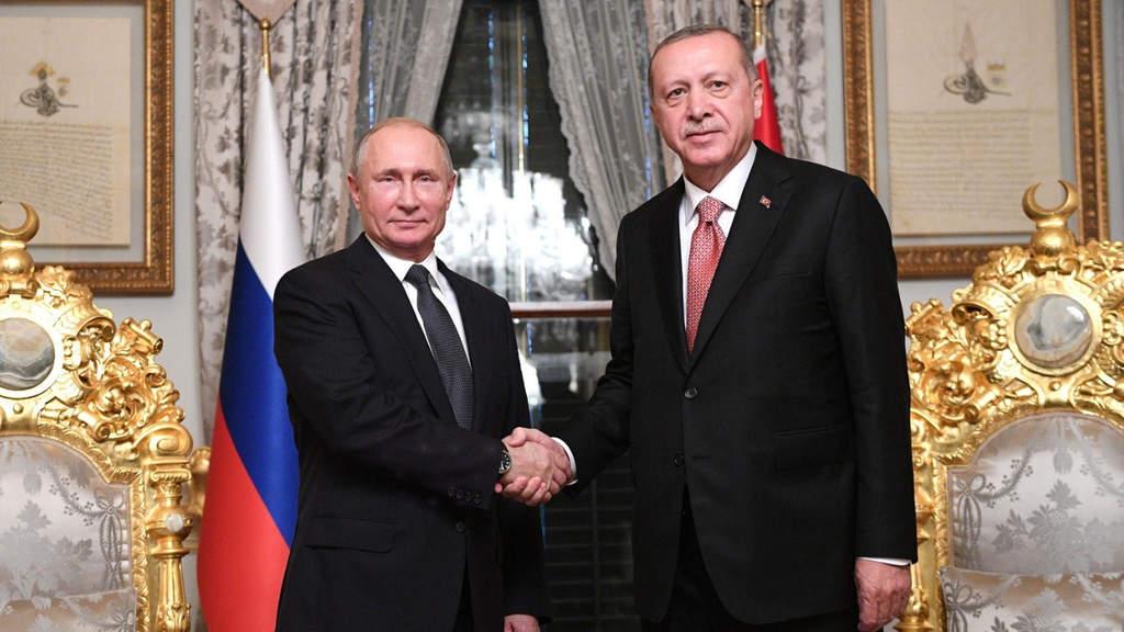 """Siria, Erdogan-Putin: """"accordo storico"""" per un nuovo cessate il fuoco"""