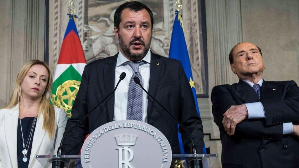 Salvini, Meloni e Berlusconi al quirinale
