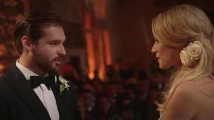 Tomaso Trussardi e Michelle Hunziker mentre si scambiano le tradizionali promesse di matrimonio