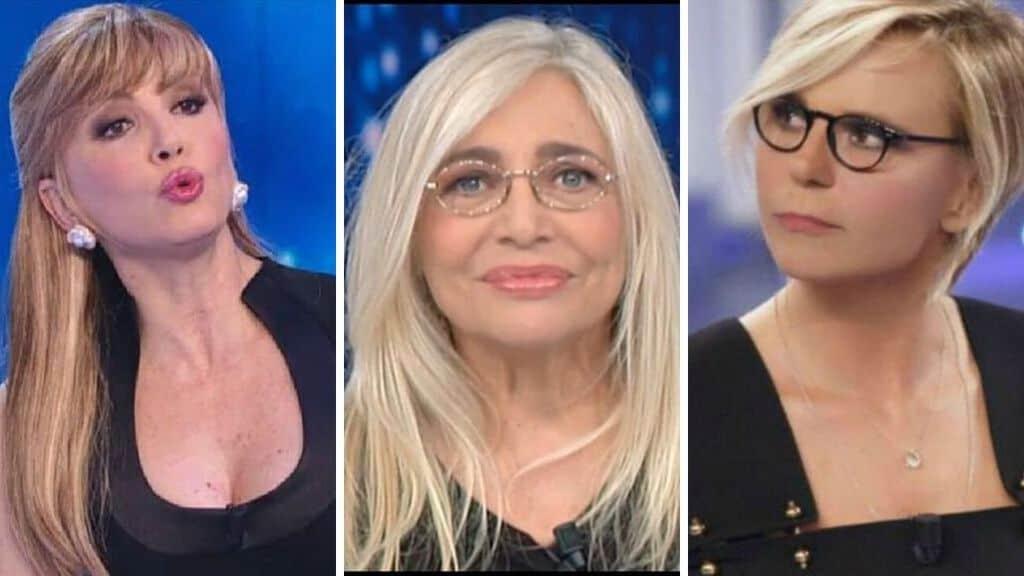 Mara Venier, Milli Carlucci e Maria De Filippi