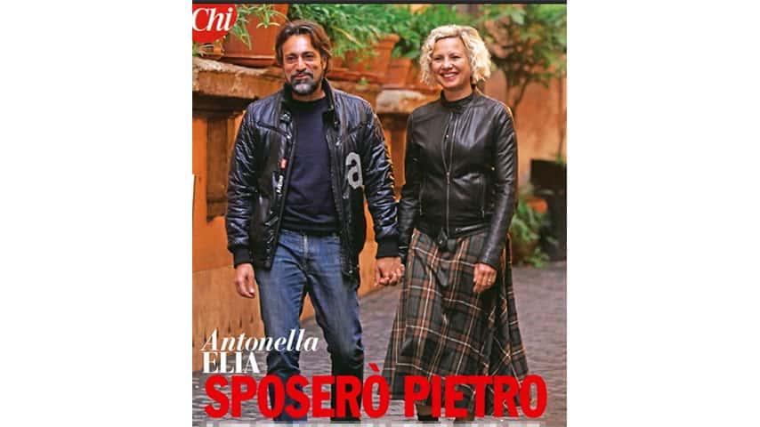 Antonella Elia e Pietro Delle Piane sul settimanale 'Chi'