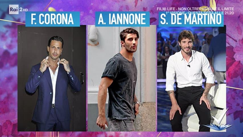 Confronto estetico tra Corona, Iannone e De Martino