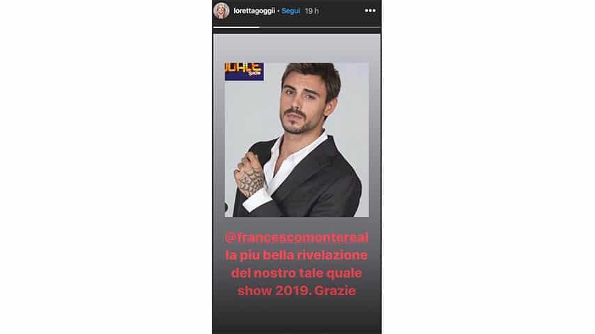 Instagram Story di Loretta Goggi