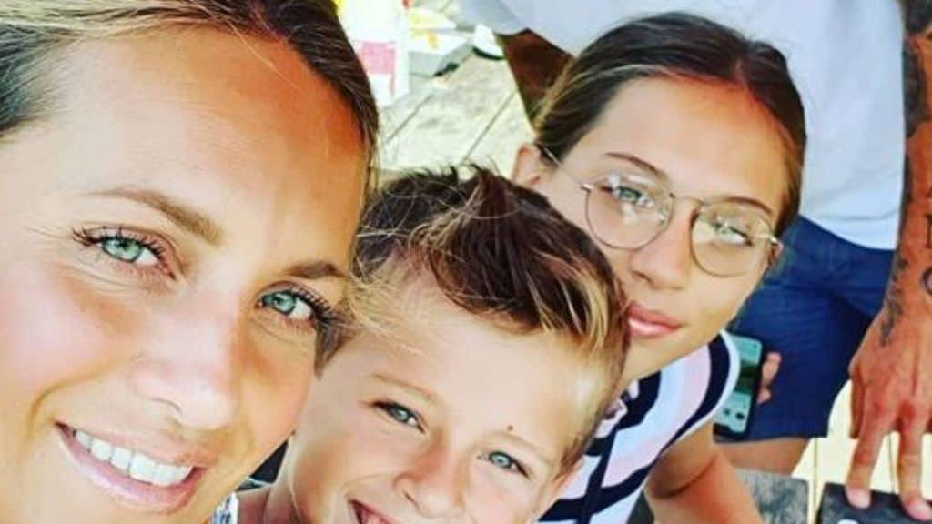 Katia con i figli