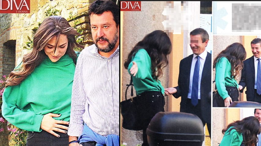 Scatti di 'Diva e Donna' su Francesca Verdini e Matteo Salvini