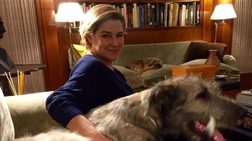 Silvia verdone insieme al suo cane