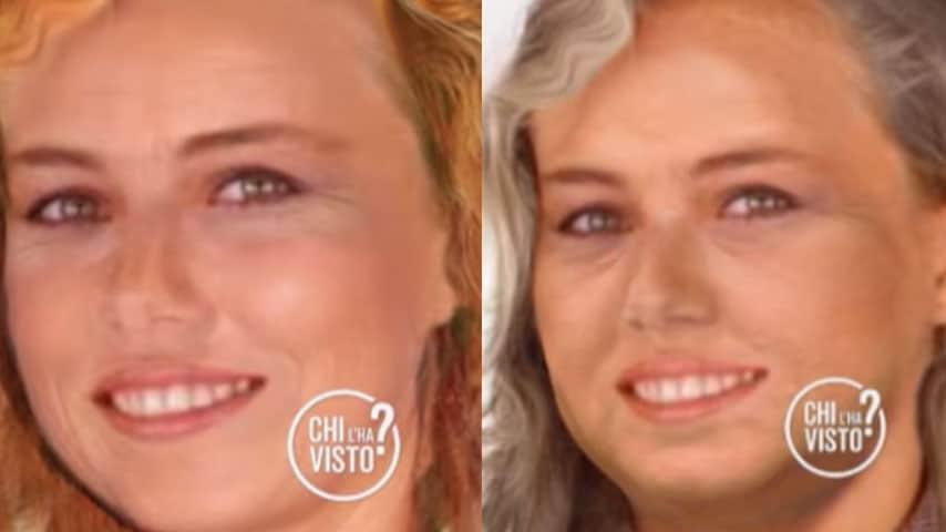Simulazione di invecchiamento del volto di Ylenia Carrisi a 'Chi l'ha visto'