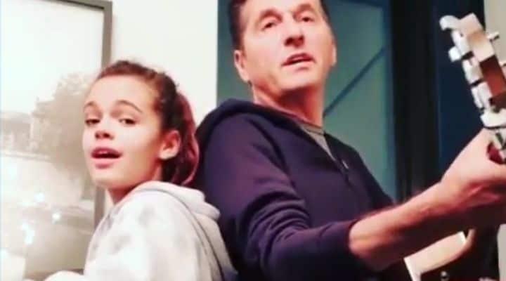 Teo Mammuccari e la figlia Julia