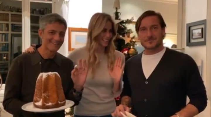 Fiorello, Elena Santarelli e Francesco Totti