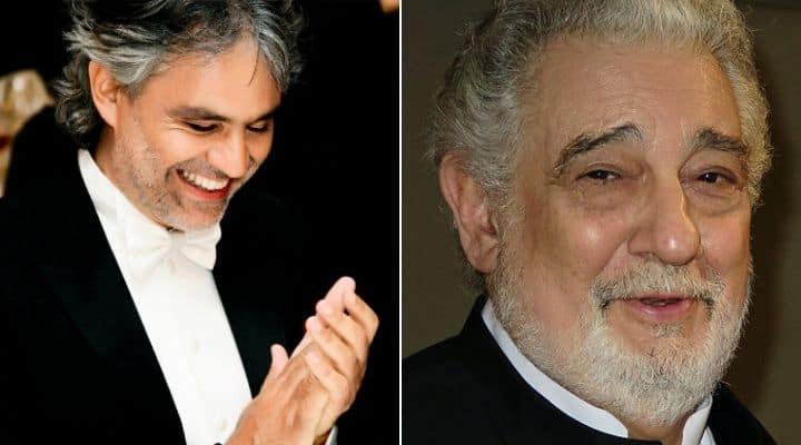 Andrea Bocelli e Placido Domingo