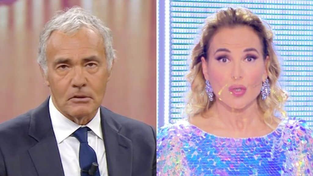 Massimo Giletti e Barbara d'Urso in primo piano