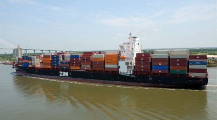 Una nave portacontainer