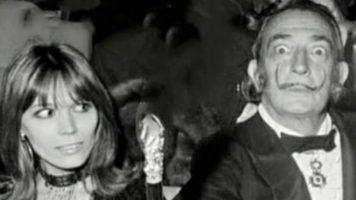 Amanda Lear e Salvador Dalì