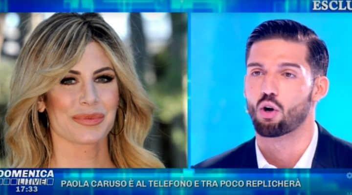moreno merlo accuse paola caruso domenica live