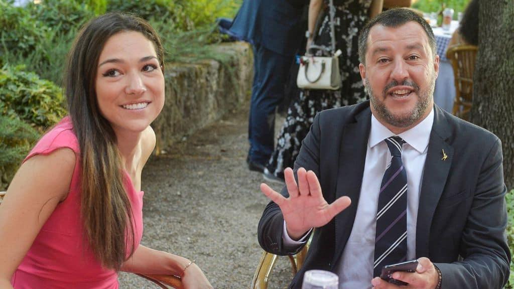 Francesca Verdini e Matteo Salvini a tavola
