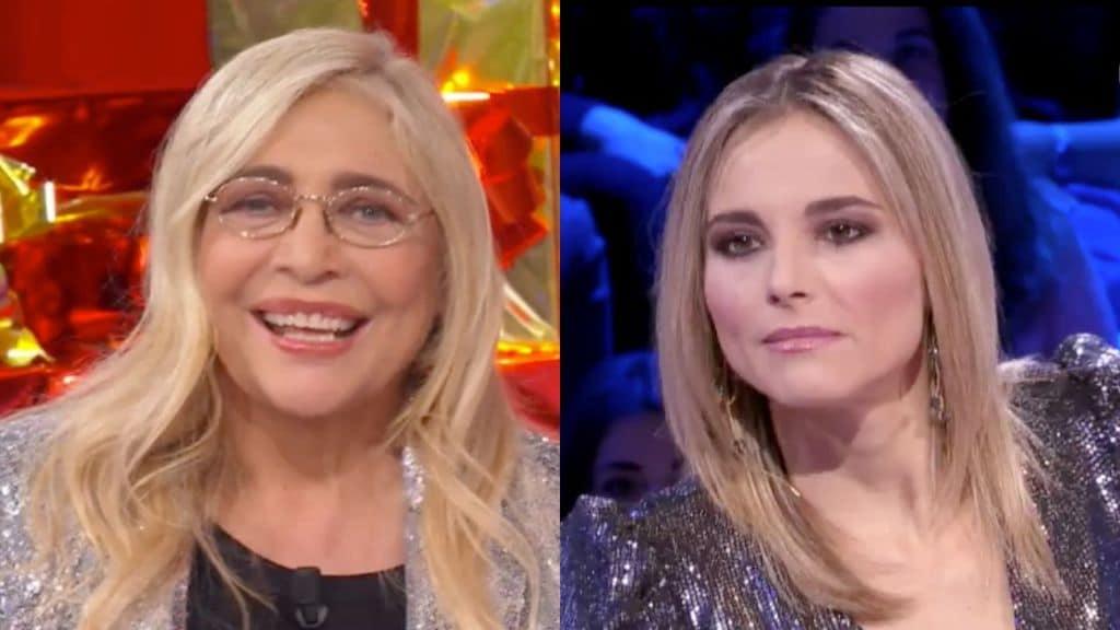 Mara Venier e Francesca Fialdini in primo piano