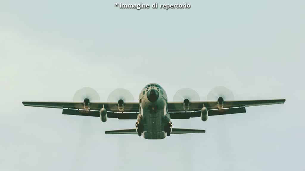 C-130 Hercules in volo
