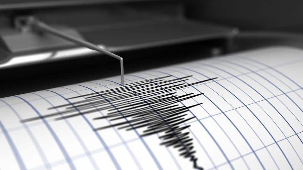 sismografo che rivela una socssa