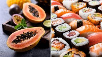 papaya e sushi