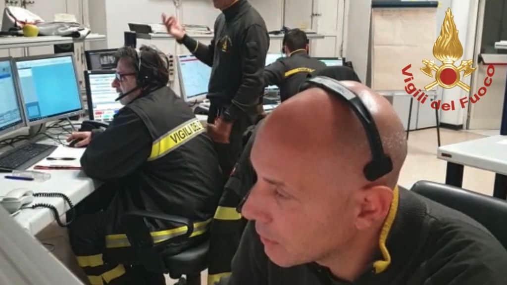 vigili del fuoco operativi