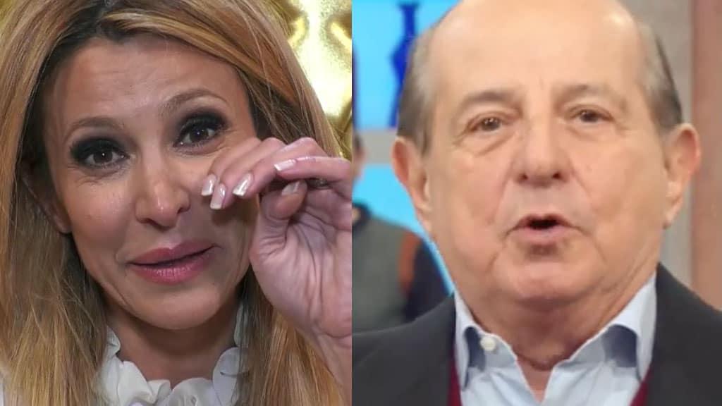 Primo piano di Adriana Volpe e Giancarlo Magalli