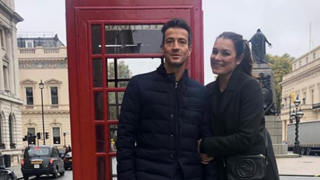 Alena Seredova abbraccia Alessandro Nasi a Londra