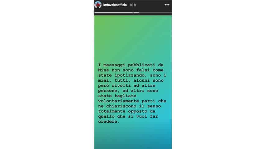 Instagram Story di Luigi Favoloso