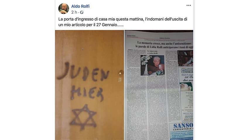 Post di Aldo Rolfi su Facebook