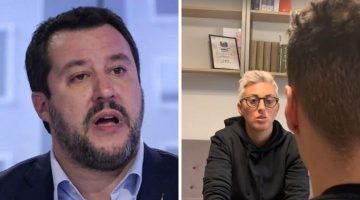 Matteo Salvini e Cathy La Torre