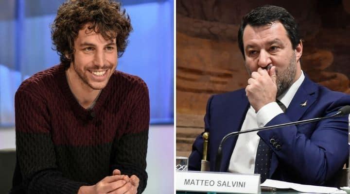 Mattia Santori e Matteo Salvini
