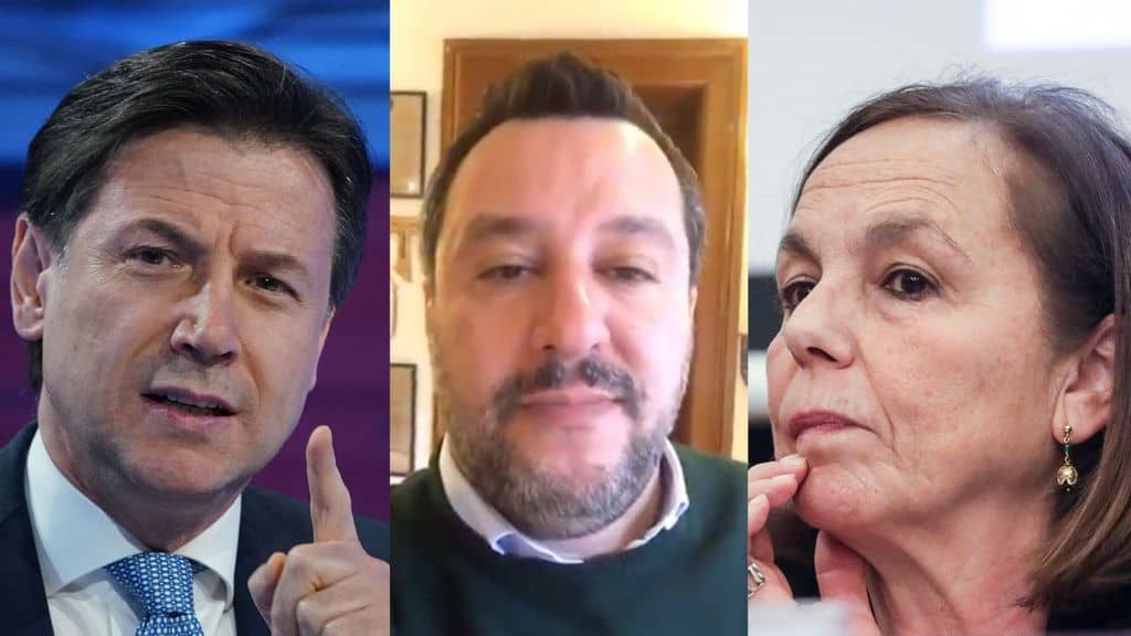 Giuseppe Conte, Matteo Salvini e Luciana Lamorgese