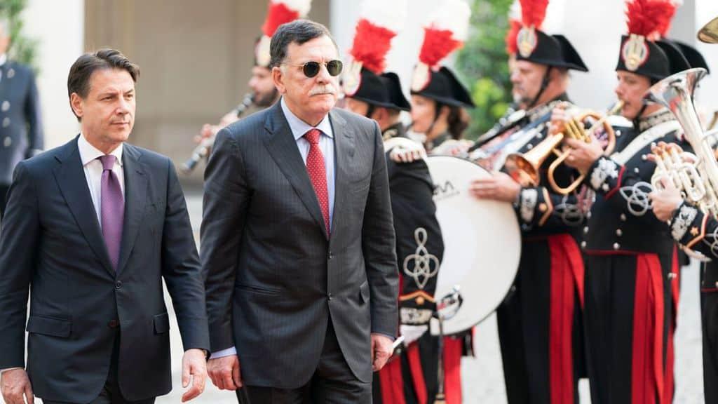 Il premier Conte e il premier Sarraj