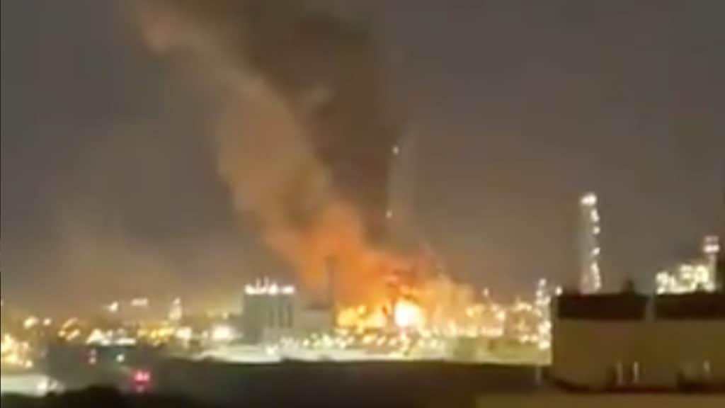fiamme in un impianto petrolchimico a Tarragona