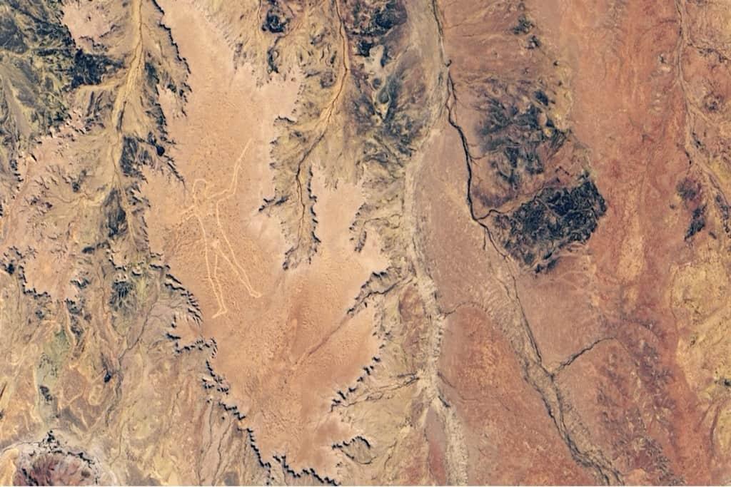 Un'immagine dallo spazio del Marree Man