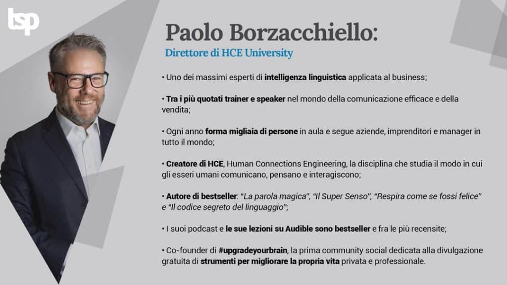 Infografica su chi è Paolo Borzacchiello
