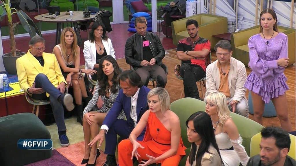 I concorrenti del Gf Vip durante la tredicesima puntata