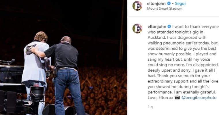 Il post di Instagram di Elton John