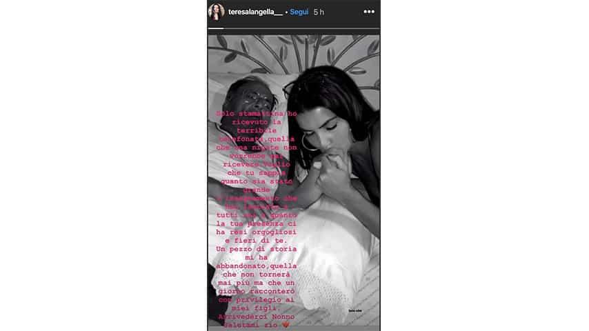 Instagram Story di Teresa Langella