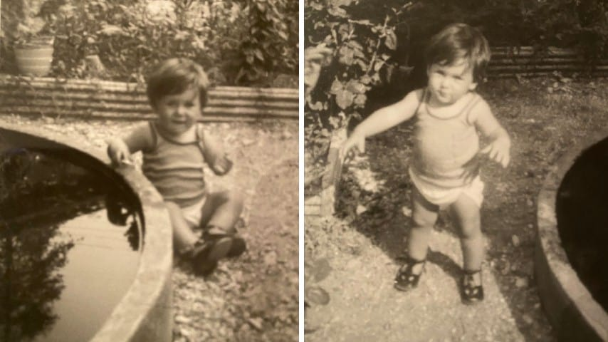 Paolo Borzacchiello da bambino in due foto tratte dal suo album privato